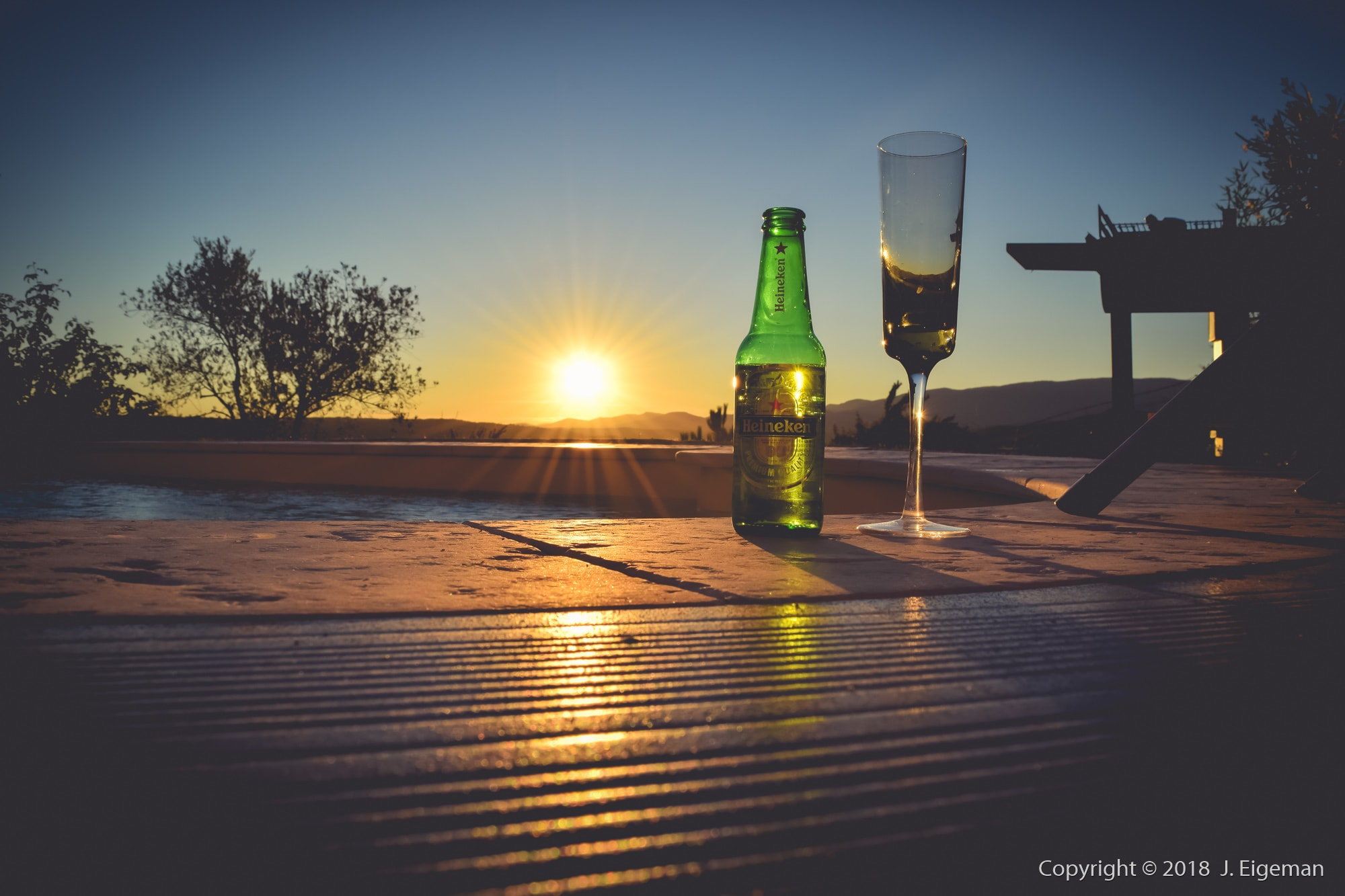 Drinks sunset photography