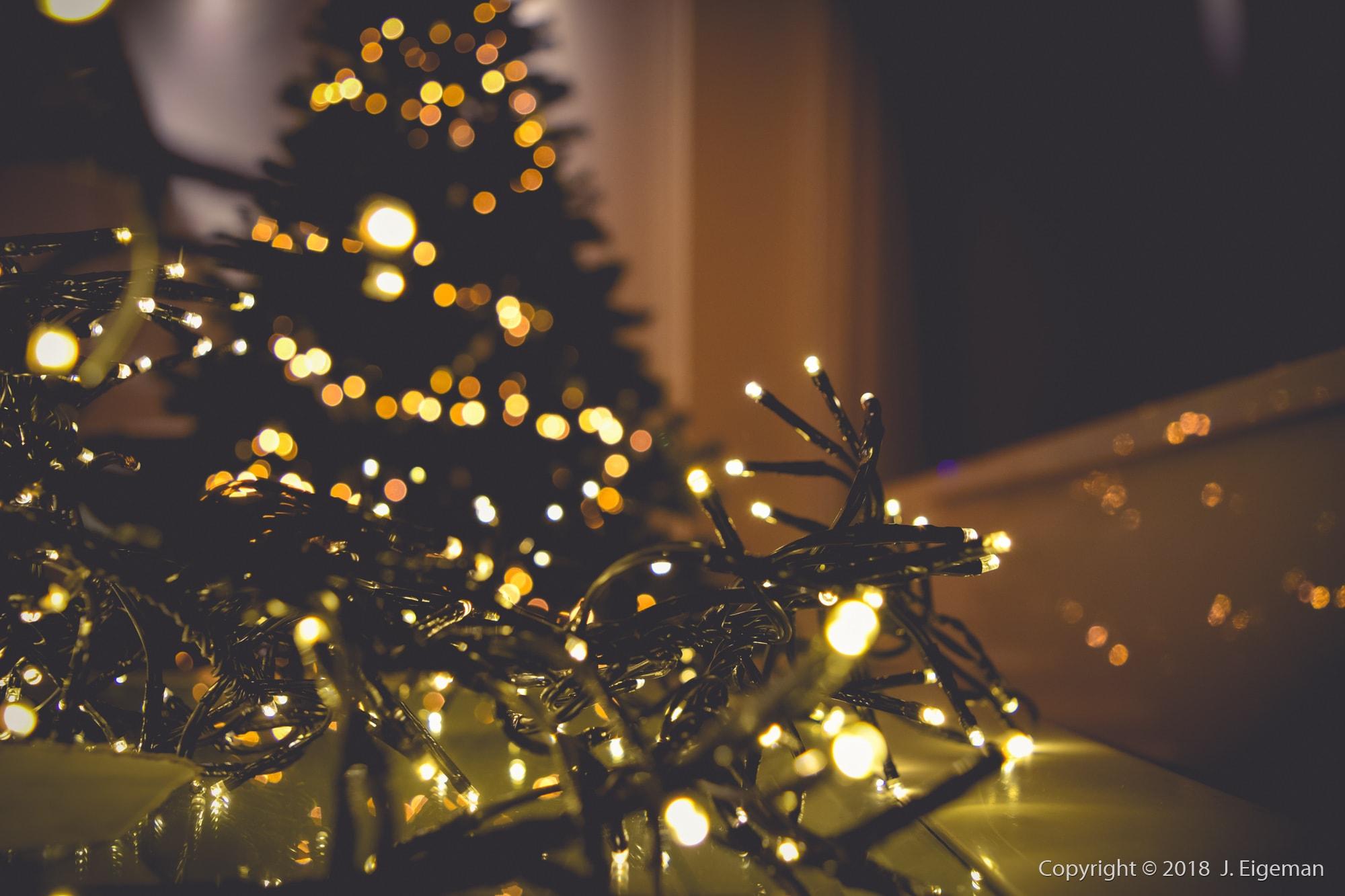 Kerstverlichting sfeer fotografie