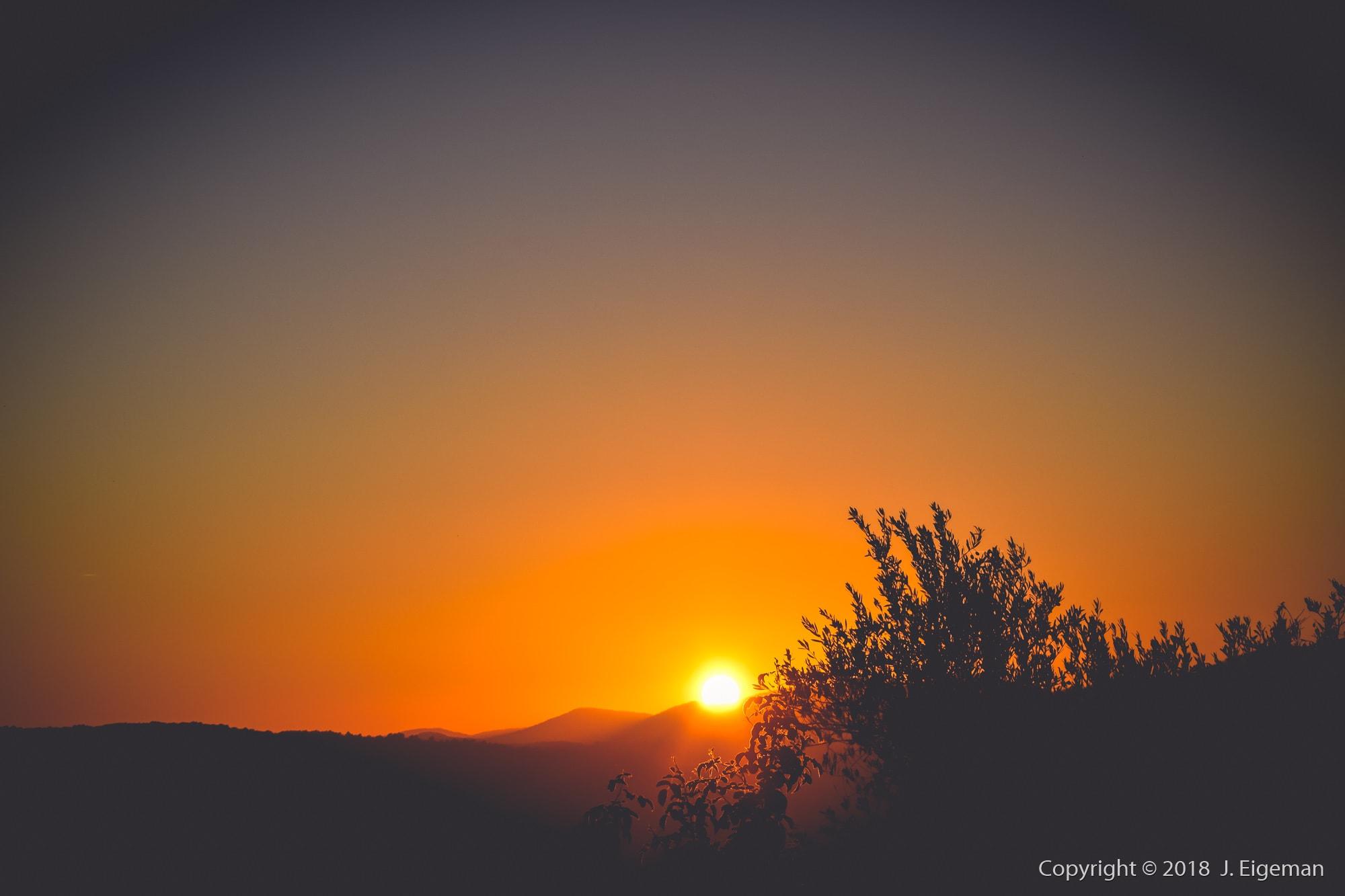 Landschap fotografie zonsondergang